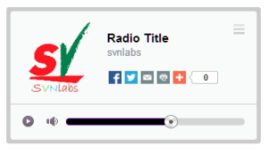 Responsive HTML5 MP3 Player Radio