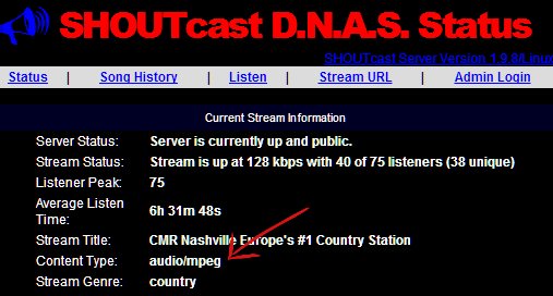 shoutcast version 1
