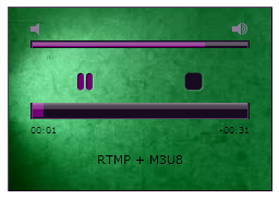 Wowza RTMP HLS Radio MP3 Player