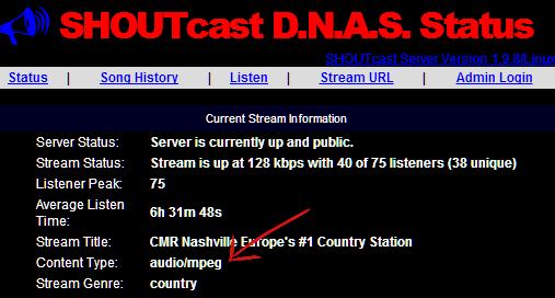 shoutcast version 1