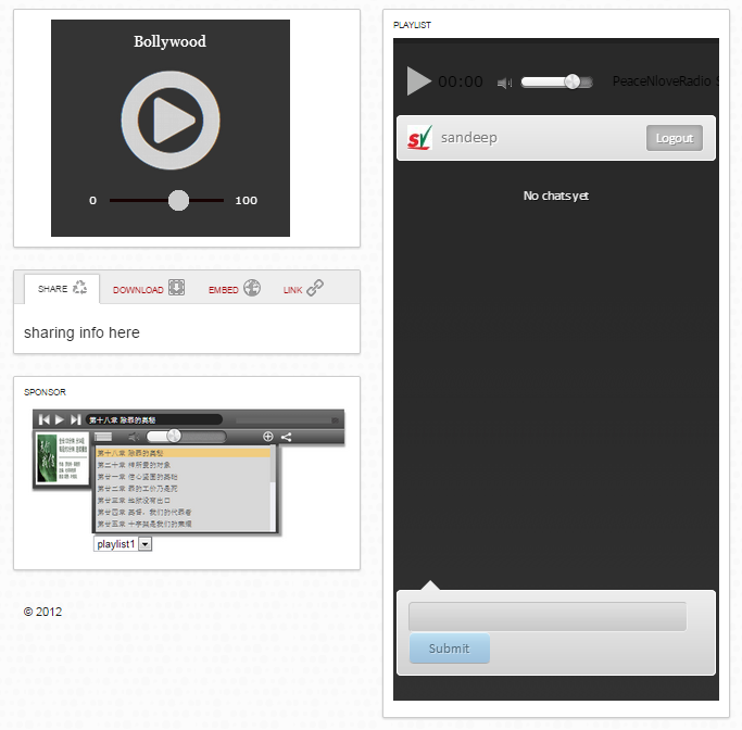 HTML5 Radio Player with Text Chat