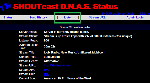Radio Streams Url