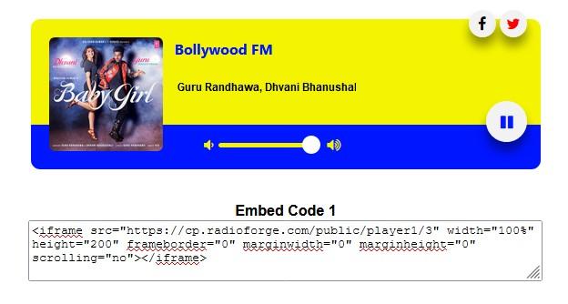 Radio Current Playing Metadata Artwork