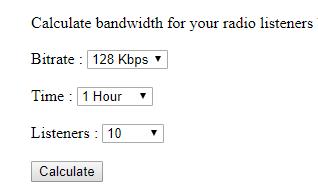 Radio Bandwidth Calculator